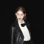 Comme les Loups AW17 black bow tie for women